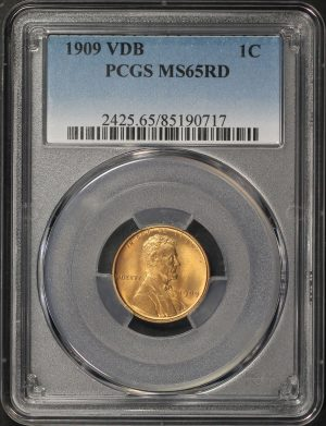 Obverse of this 1909 Lincoln Cent Wheat Reverse PCGS Genuine