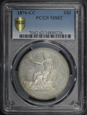 Obverse of this 1876-CC Trade Dollar PCGS MS-62