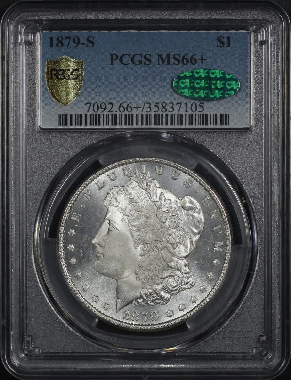 Obverse of this 1879-S Morgan Dollar PCGS MS-66+ CAC
