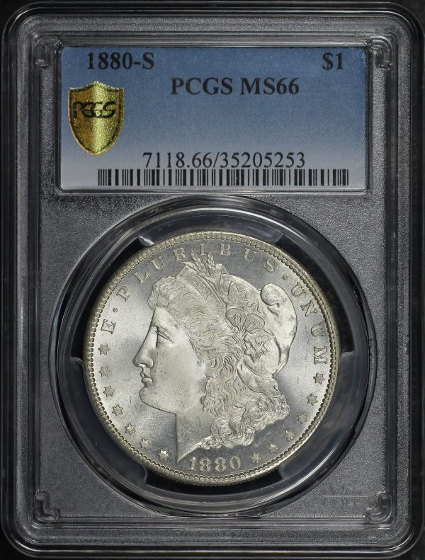 Obverse of this 1880-S Morgan Dollar PCGS MS-66