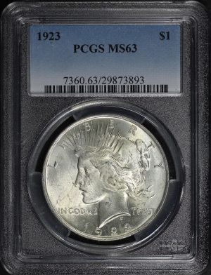 Obverse of this 1923 Peace Dollar PCGS MS-63