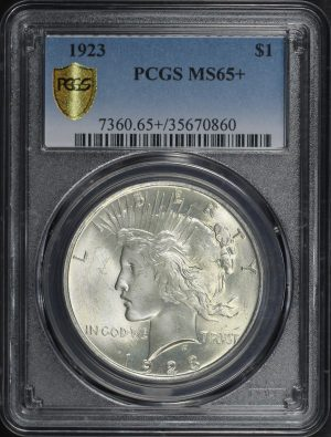 Obverse of this 1923 Peace Dollar PCGS MS-65+