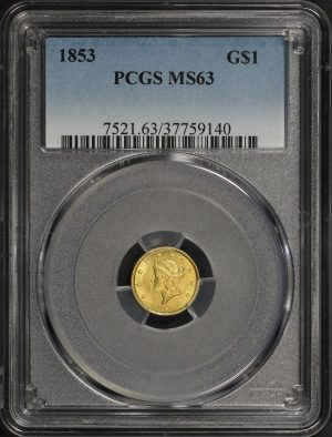 Obverse of this 1853  PCGS MS-63
