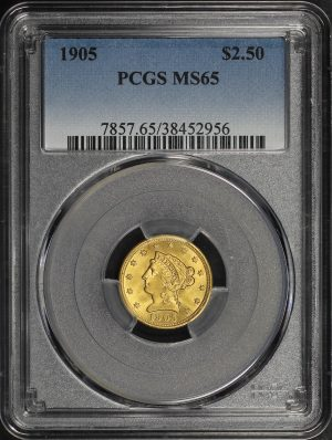 Obverse of this 1905 Liberty Head $2.5 PCGS MS-65
