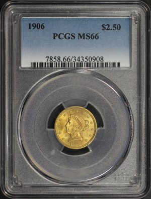 Obverse of this 1906 Liberty Head $2.5 PCGS MS-66