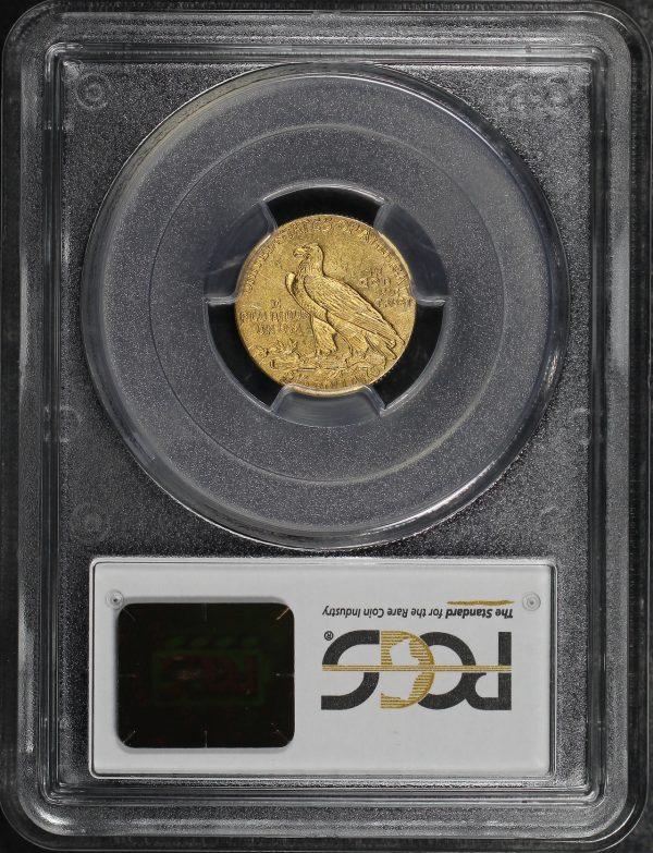 Reverse of this 1911 Indian $2.5 PCGS MS-62