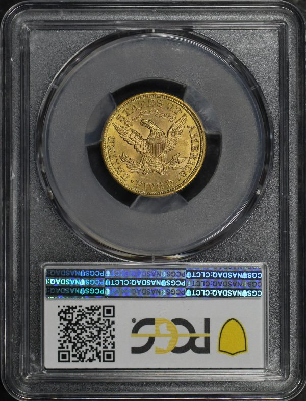 Reverse of this 1908 Liberty Head $5 PCGS MS-64 CAC