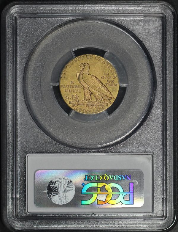 Reverse of this 1912 Indian $5 PCGS AU-55