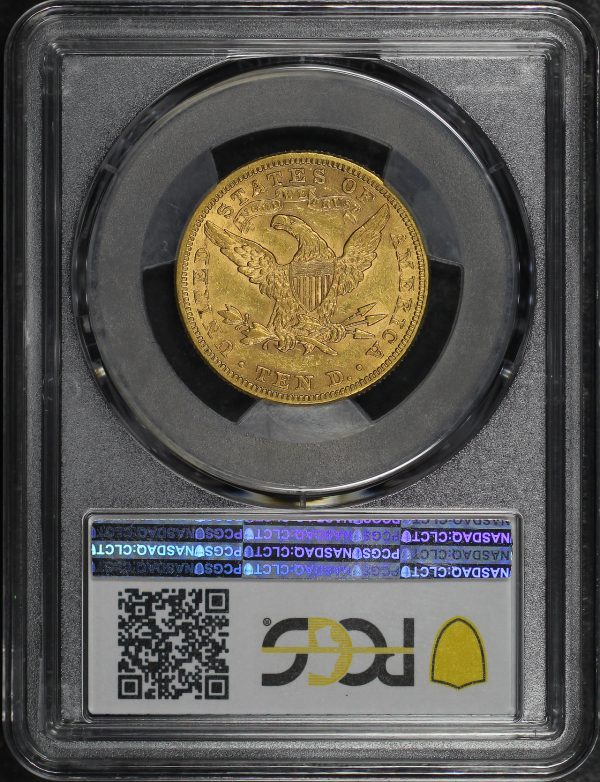 Reverse of this 1881 Liberty Head $10 PCGS XF-45