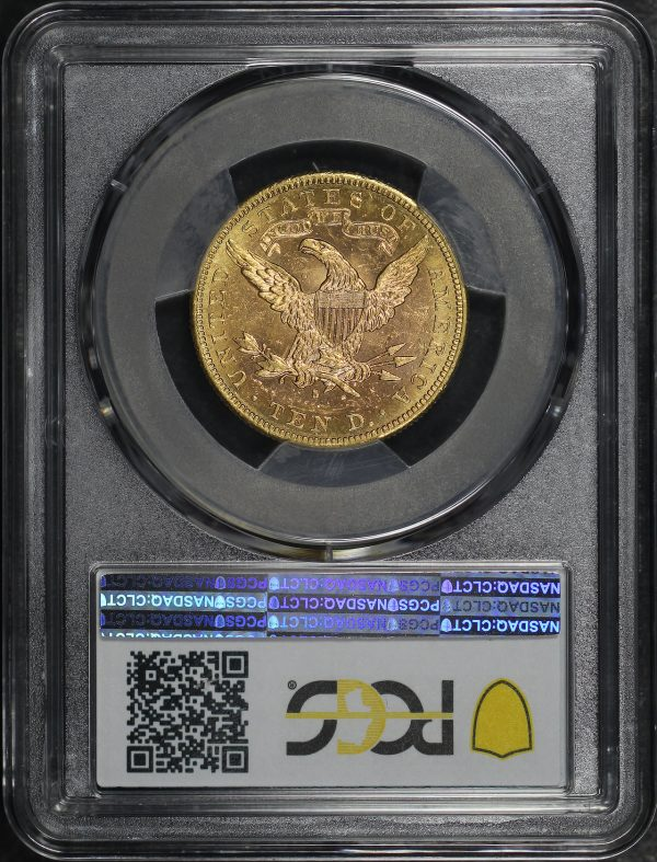 Reverse of this 1887-S Liberty Head $10 PCGS MS-61
