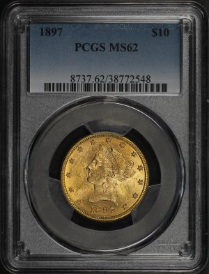 Obverse of this 1897 Liberty Head $10 PCGS MS-62