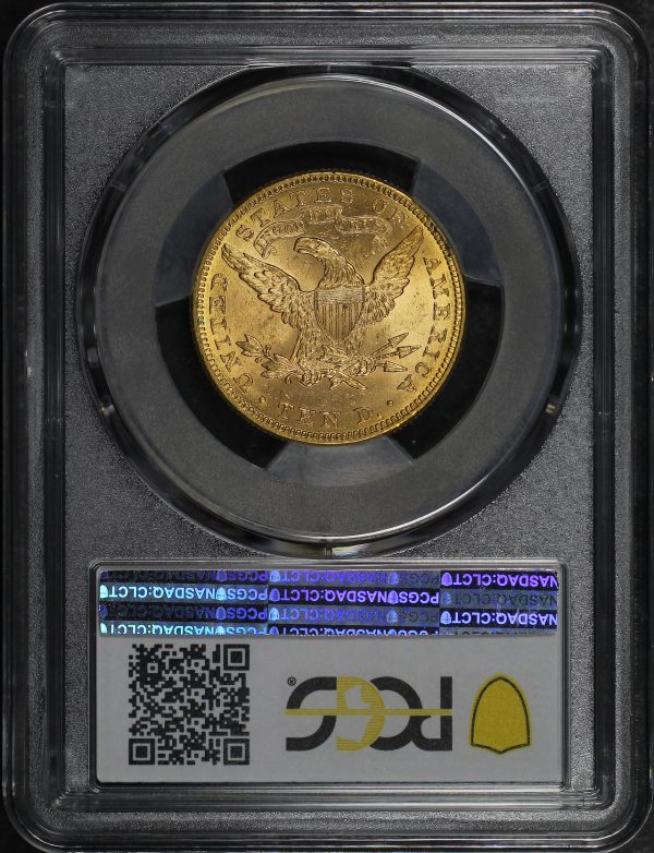 Reverse of this 1897 Liberty Head $10 PCGS MS-62