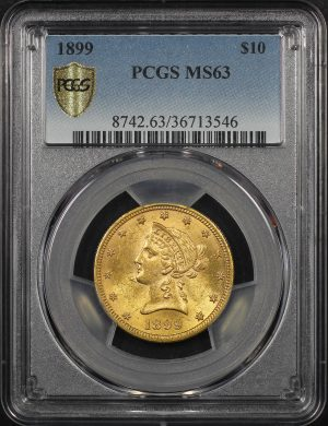 Obverse of this 1899 Liberty Head $10 PCGS MS-63