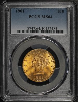 Obverse of this 1901 Liberty Head $10 PCGS MS-64