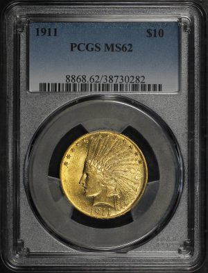 Obverse of this 1911 Indian $10 Motto PCGS MS-62