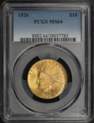 Obverse of this 1926 Indian $10 Motto PCGS MS-64