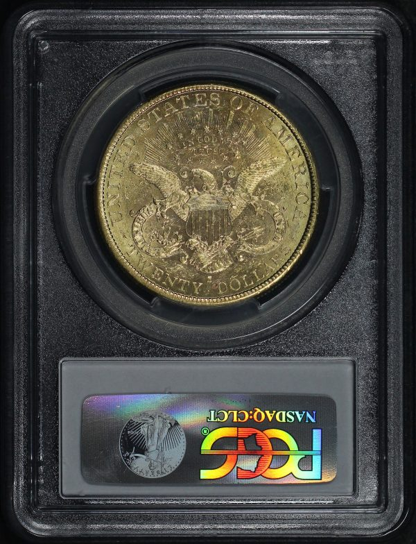 Reverse of this 1884-S Liberty Head $20 Type 3 PCGS MS-61