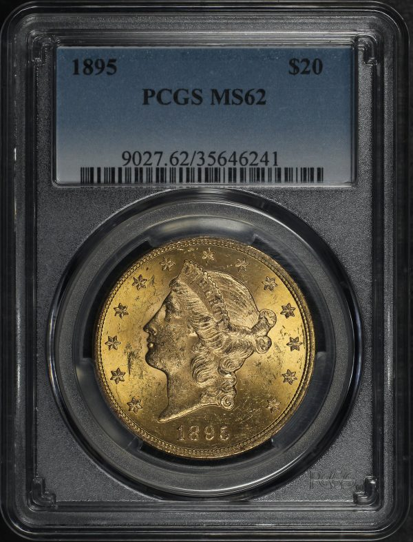 Obverse of this 1895 Liberty Head $20 Type 3 PCGS MS-62