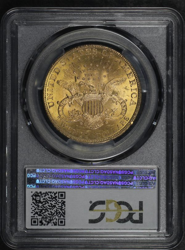 Reverse of this 1895 Liberty Head $20 Type 3 PCGS MS-62