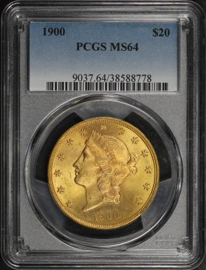 Obverse of this 1900 Liberty Head $20 Type 3 PCGS MS-64
