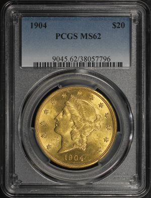Obverse of this 1904 Liberty Head $20 Type 3 PCGS MS-62