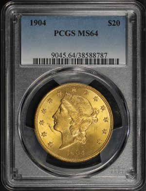 Obverse of this 1904 Liberty Head $20 Type 3 PCGS MS-64
