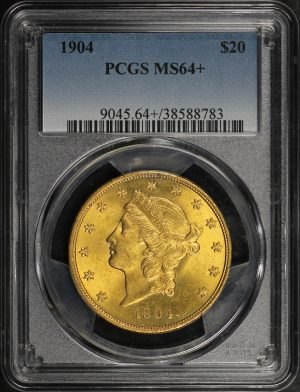 Obverse of this 1904 Liberty Head $20 Type 3 PCGS MS-64+