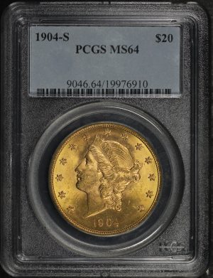 Obverse of this 1904-S Liberty Head $20 Type 3 PCGS MS-64