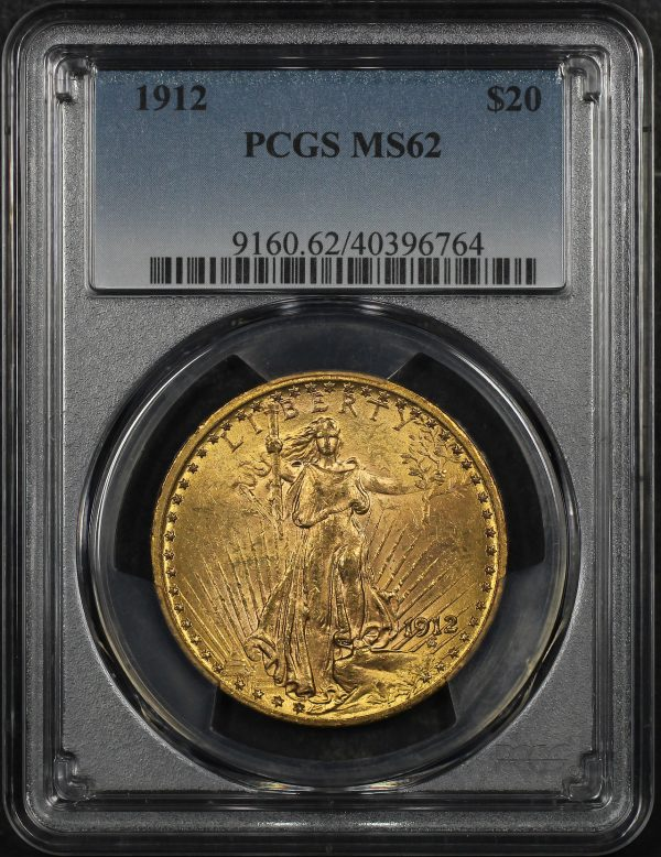 Obverse of this 1912 St. Gaudens $20 PCGS MS-62