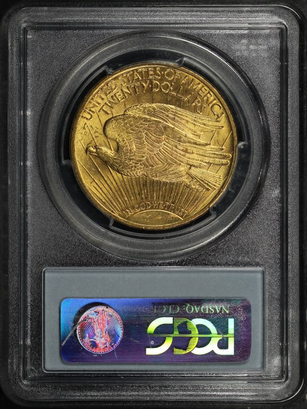 Reverse of this 1922 St. Gaudens $20 PCGS MS-63
