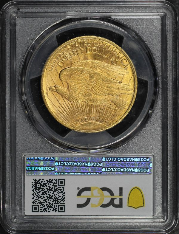 Reverse of this 1923 St. Gaudens $20 PCGS MS-62