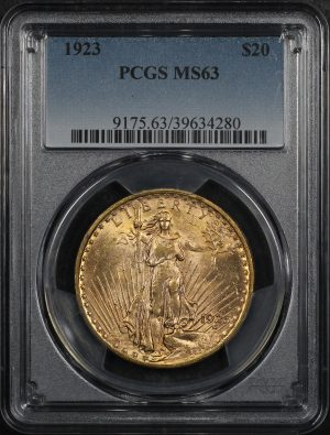 Obverse of this 1923 St. Gaudens $20 PCGS MS-63