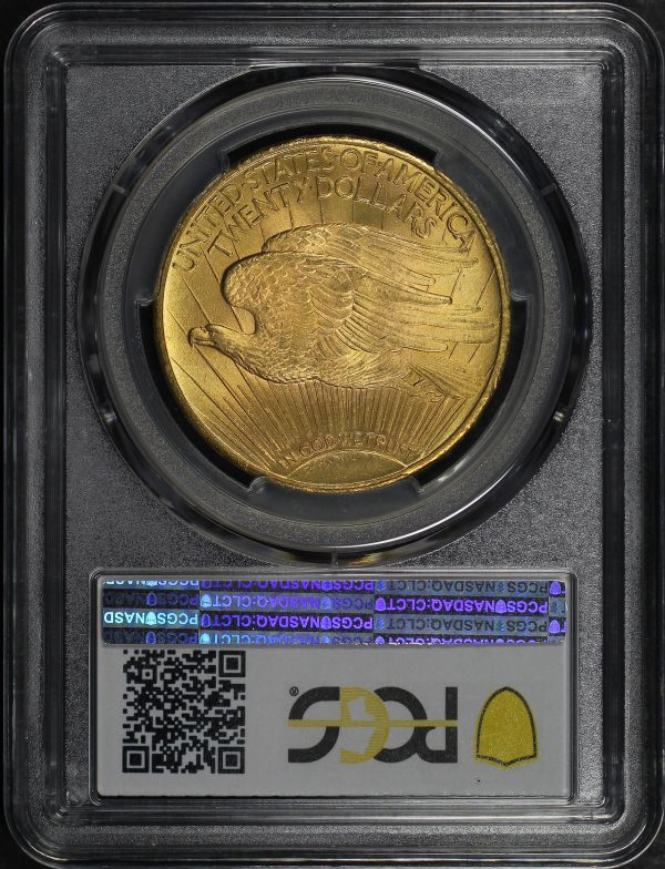 Reverse of this 1924 St. Gaudens $20 PCGS MS-64+ CAC
