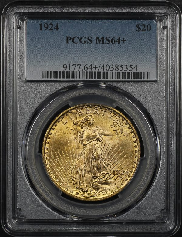Obverse of this 1924 St. Gaudens $20 PCGS MS-64+