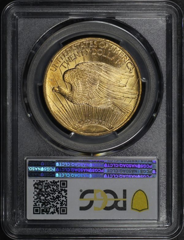Reverse of this 1924 St. Gaudens $20 PCGS MS-64+