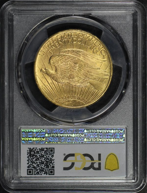 Reverse of this 1925 St. Gaudens $20 PCGS MS-65