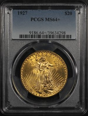 Obverse of this 1927 St. Gaudens $20 PCGS MS-64+