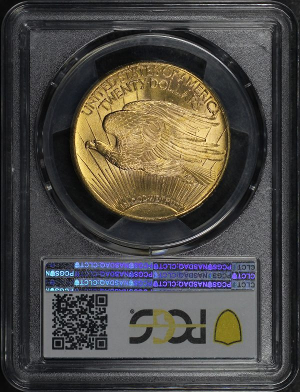 Reverse of this 1927 St. Gaudens $20 PCGS MS-65+