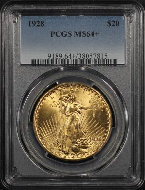 Obverse of this 1928 St. Gaudens $20 PCGS MS-64+