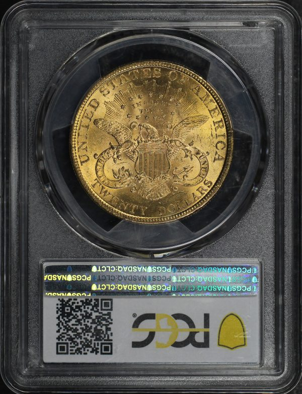 Reverse of this 1896 Liberty Head $20 Type 3 PCGS MS-62 RPD FS-301