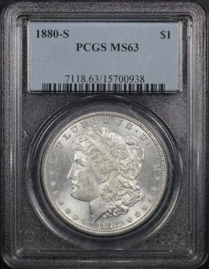 Obverse of this 1880-S Morgan Dollar PCGS MS-63