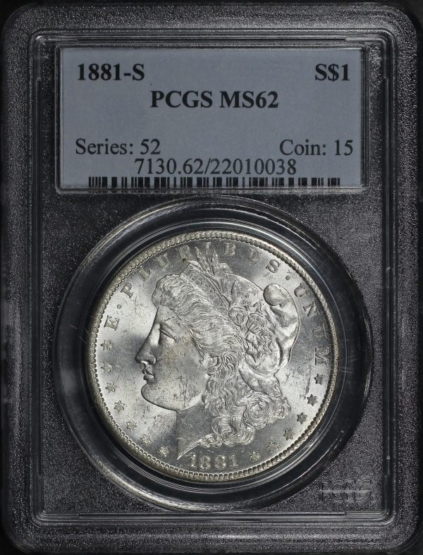 Obverse of this 1881-S Morgan Dollar PCGS MS-62