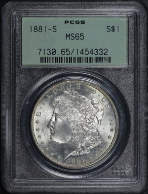 Obverse of this 1881-S Morgan Dollar PCGS MS-65