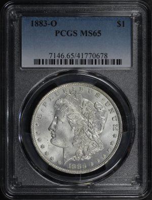 Obverse of this 1883-O Morgan Dollar PCGS MS-65