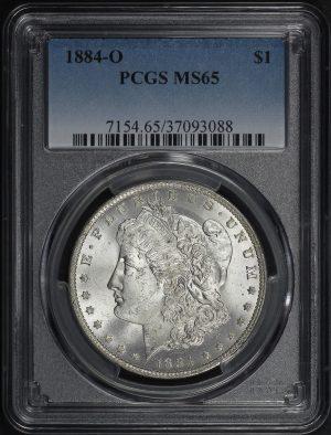 Obverse of this 1884-O Morgan Dollar PCGS MS-65