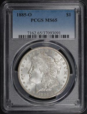 Obverse of this 1885-O Morgan Dollar PCGS MS-65