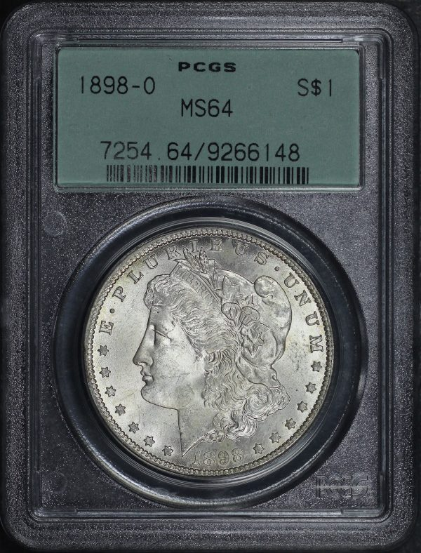 Obverse of this 1898-O Morgan Dollar PCGS MS-64
