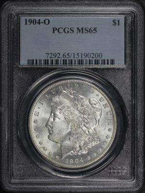 Obverse of this 1904-O Morgan Dollar PCGS MS-65