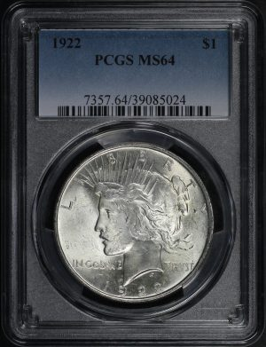 Obverse of this 1922 Peace Dollar PCGS MS-64
