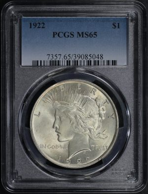 Obverse of this 1922 Peace Dollar PCGS MS-65